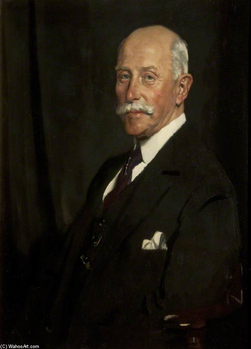 サー·ジョン·ラザフォード バイ William Newenham Montague Orpen (1878-1931, Ireland)