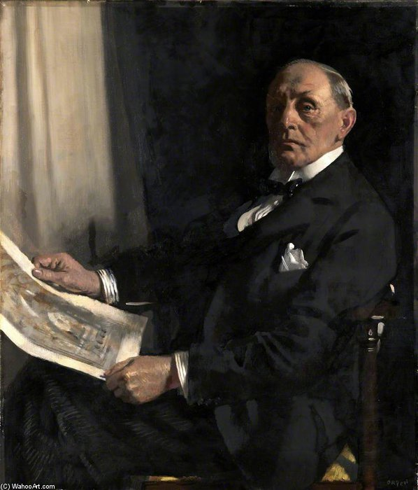 サー·ウォルター·タッパー バイ William Newenham Montague Orpen (1878-1931, Ireland)