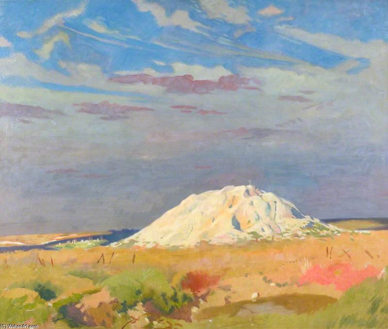 ザー ビュート デ Warlencourt バイ William Newenham Montague Orpen (1878-1931, Ireland)