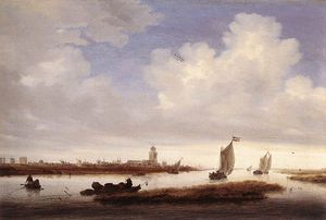 Jacob Salomonsz Ruysdael - 表示する Of Deventer 見た から North-west