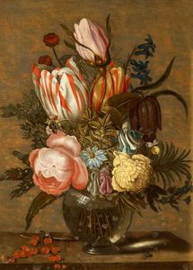 Ambrosius Bosschaert The Younger - 静物 花で