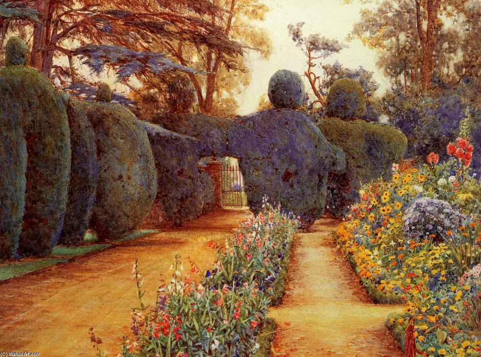 campseアッシュ バイ Ernest Arthur Rowe (1863-1922, United Kingdom) | 絵画の複製 | WahooArt.com