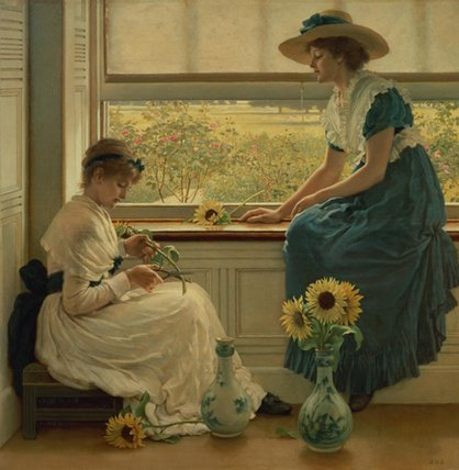 日 と 月 フラワーズ バイ George Dunlop Leslie (1835-1921, United Kingdom)