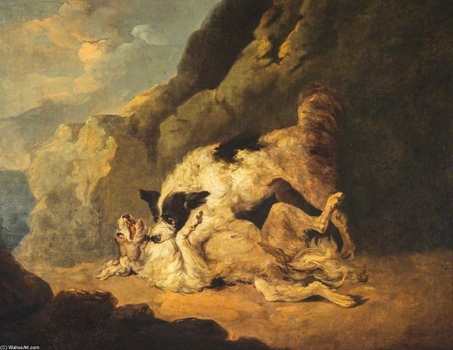 戦闘 犬  バイ George Morland (1763-1804, United Kingdom)