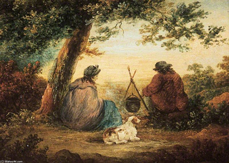ジプシー キャンプ  バイ George Morland (1763-1804, United Kingdom) | WahooArt.com