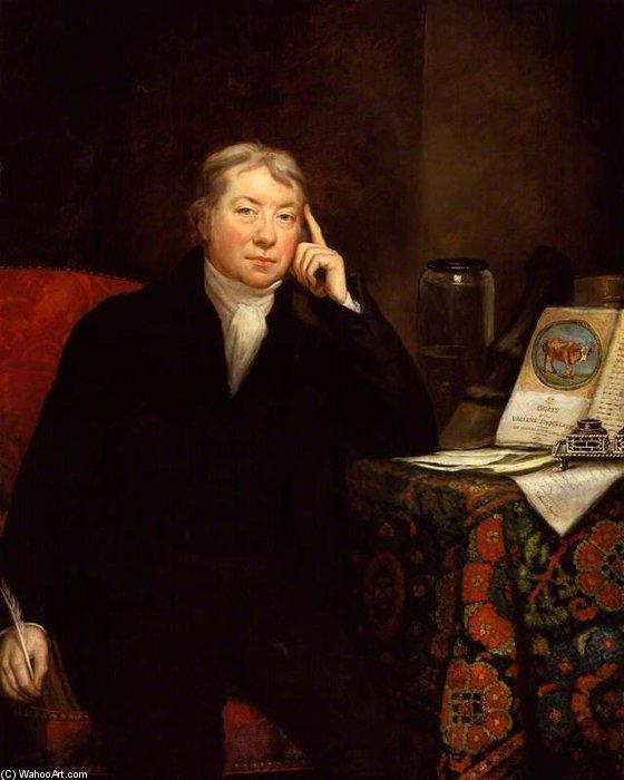 エドワード ジェンナー  バイ James Northcote (1746-1831, United Kingdom) | 「額入りプリント | WahooArt.com