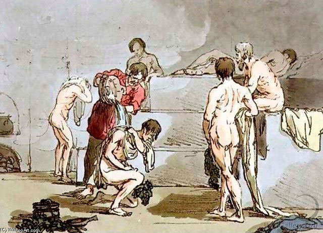 Hot-bath バイ John Augustus Atkinson (1775-1833, United Kingdom) | 絵画の複製 | WahooArt.com