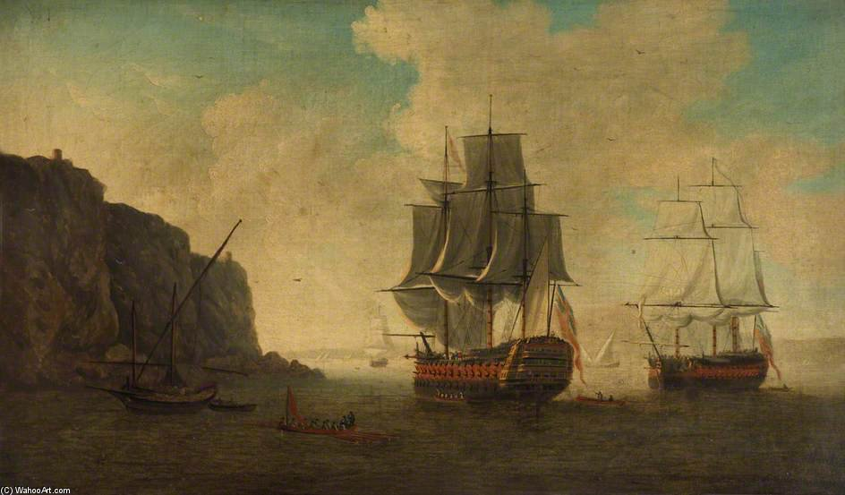 HMS barfleur」 バイ John Thomas Serres (1759-1825, United Kingdom)