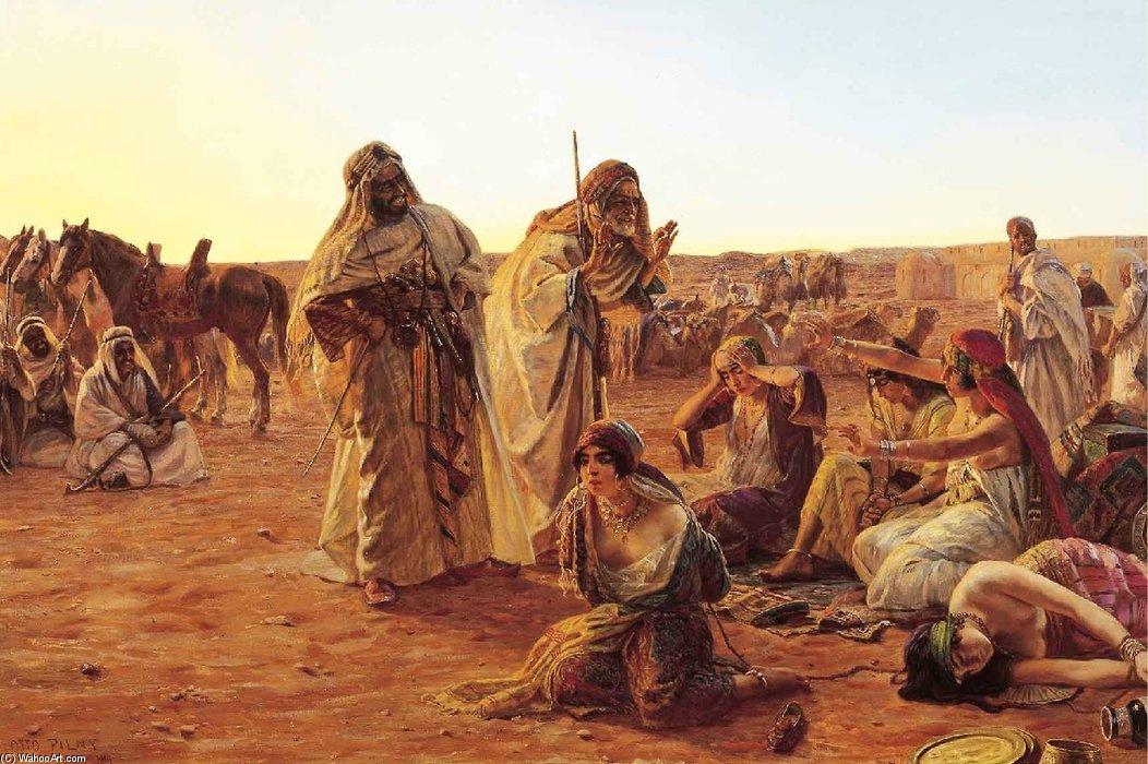 奴隷市場 - バイ Otto Pilny (1866-1936, Czech Republic)   「アート再現