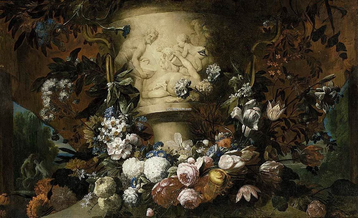 花のガーランド バイ Pieter The Younger Holsteyn (1614-1673, Netherlands) | WahooArt.com