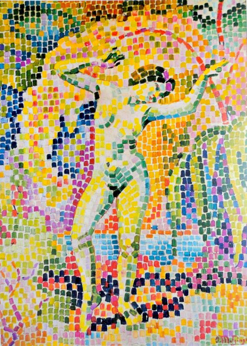 Bacchante バイ Jean Dominique Antony Metzinger (1883-1956, France)