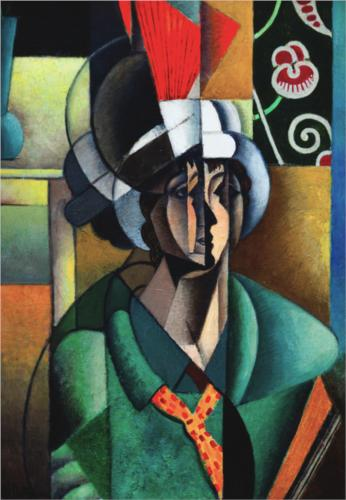 女性 と一緒に ファン バイ Jean Dominique Antony Metzinger (1883-1956, France)