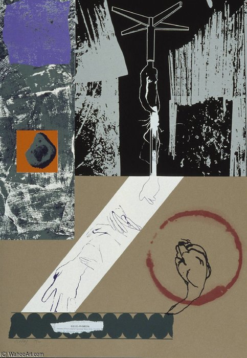 Glue-words バイ Ronald Brooks Kitaj (1932-2007, United States)