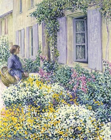 ザー 花 庭, givern0 バイ Louis Ritman (1889-1963, Russia)