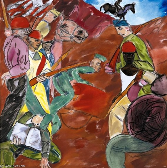 砦 ディックス  バイ Ronald Brooks Kitaj (1932-2007, United States)