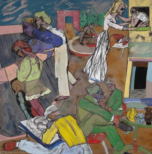 グリニッチ 村  バイ Ronald Brooks Kitaj (1932-2007, United States)