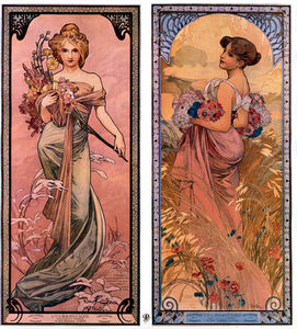 Alfons Maria Mucha - ザー 季節 spring-summer