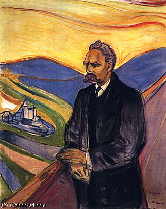 ニーチェ バイ Edvard Munch (1863-1944, Sweden)