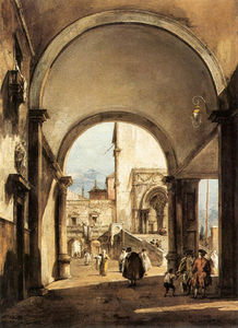 Francesco Lazzaro Guardi - 建築カプリス