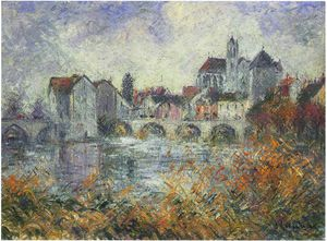 Gustave Loiseau - モレシュルロワンアンAutomneの