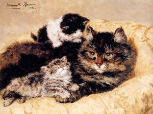 Henriette Ronner Knip - 母の愛の太陽