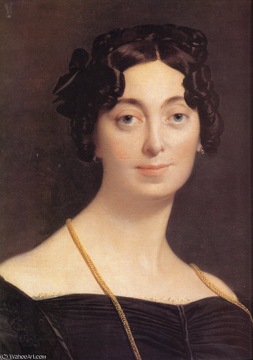 マダム ルブラン  バイ Jean Auguste Dominique Ingres (1780-1867, France)