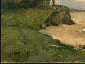 Jean Baptiste Camille Corot - ビーチ 近い  エトルタ  詳細  1   -