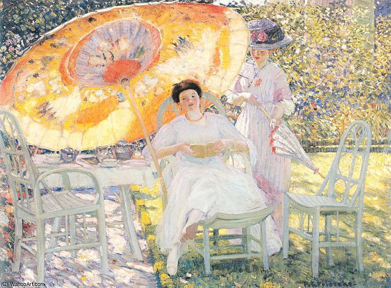 無題 (6268) バイ Frederick Carl Frieseke (1874-1939, United States) | 手描き油絵 Frederick Carl Frieseke | WahooArt.com