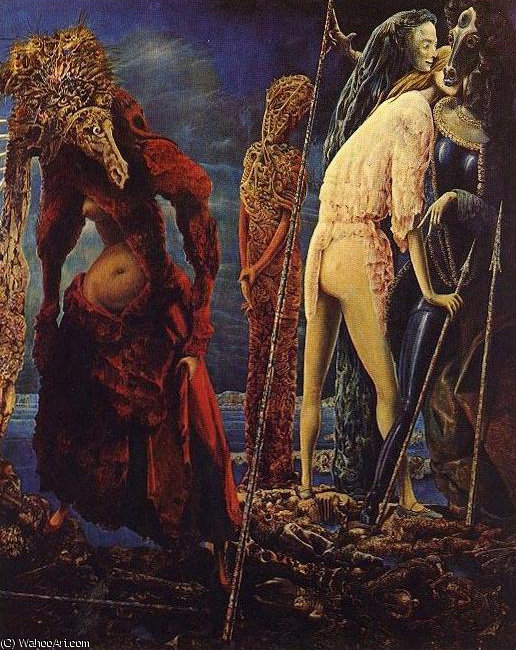 無題 607   バイ Max Ernst (1891-1976, Germany)