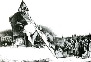 Honoré Daumier - ガルガンチュア、lithographieリトグラフ