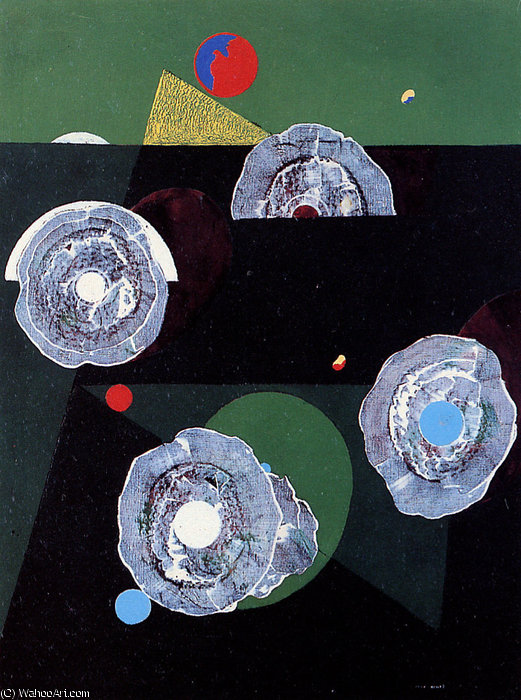 Coquillesフルール日 バイ Max Ernst (1891-1976, Germany)