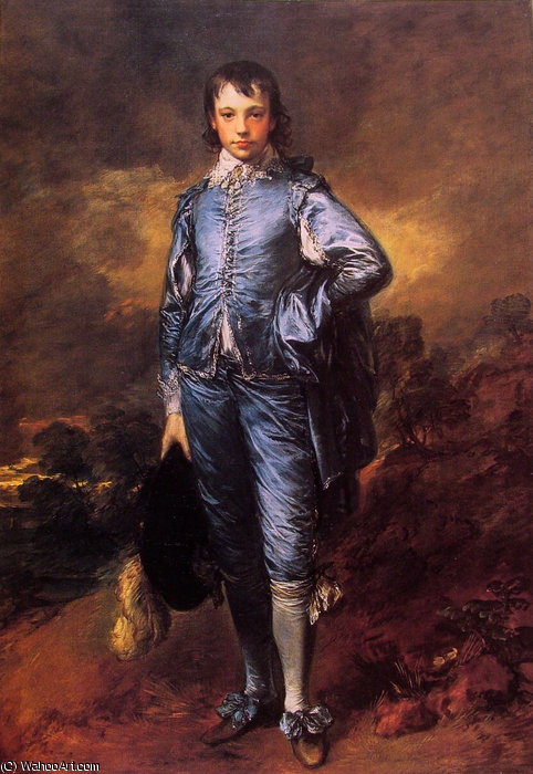 の肖像画 ヨナタン Buttall-The ブルーボーイ バイ Thomas Gainsborough (1727-1788, United Kingdom) | WahooArt.com