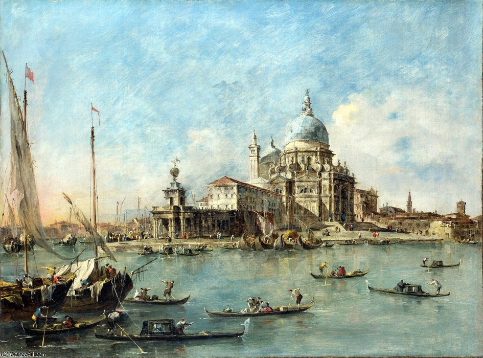 ザー プンタ  デラ  ドガーナ  バイ Francesco Lazzaro Guardi (1712-1793, Italy) | WahooArt.com