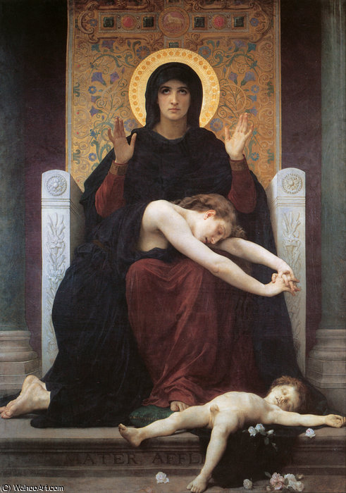 ビエルヘ consolatrice バイ William Adolphe Bouguereau (1825-1905, France)