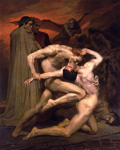 William Adolphe Bouguereau - ダンテ ら Virgile auの Enfers