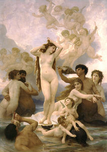 William Adolphe Bouguereau - 誕生 デ  ヴィーナス