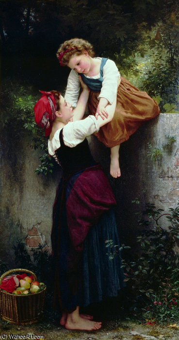 Petitesのmaraudeuses バイ William Adolphe Bouguereau (1825-1905, France) | 絵画の複製 | WahooArt.com