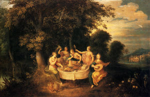 Frans Francken The Younger - トン アブラハム Govaerts ザー 五つ 感覚