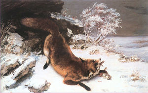Gustave Courbet - 雪の中のフォックス