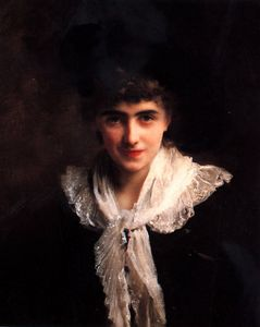 Gustave Jean Jacquet - 貴婦人の肖像
