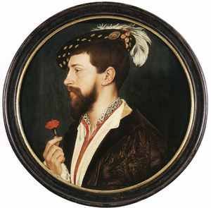 Hans Holbein The Younger - の肖像画 サイモン  ジョージ