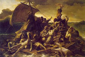 Jean-Louis André Théodore Géricault - メドゥーサのいかだ ルーブル美術館