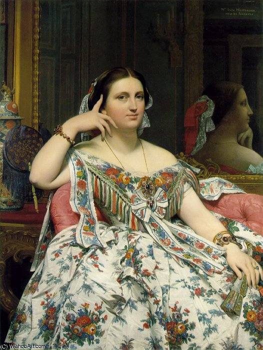 マリーClothilde-イネス·ド·フーコー、マダムMoitessier、 バイ Jean Auguste Dominique Ingres (1780-1867, France)