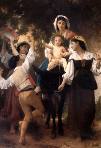 William Adolphe Bouguereau - ロバ ライド