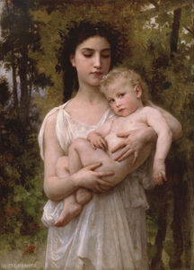 William Adolphe Bouguereau - 少し 兄弟