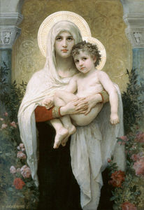 William Adolphe Bouguereau - マドンナ の  ザー  バラ