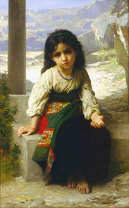 William Adolphe Bouguereau - 小柄な mendiante