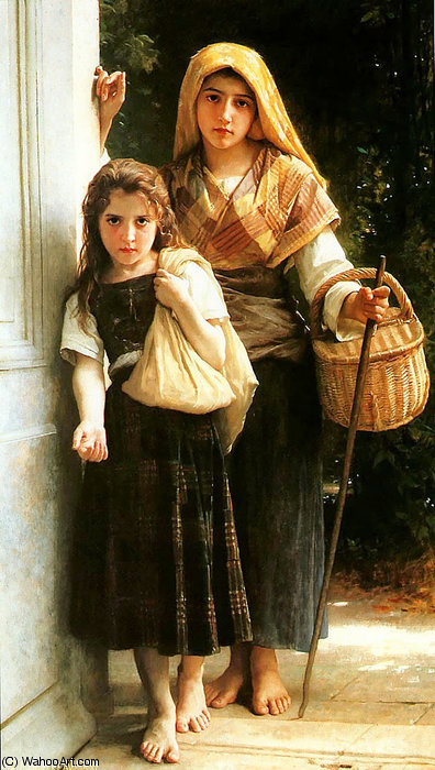 petitesののmendiantes バイ William Adolphe Bouguereau (1825-1905, France) | 絵画の複製 | WahooArt.com