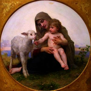 William Adolphe Bouguereau - ヴァージンと子羊