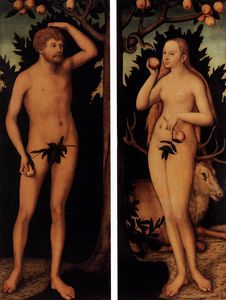 Lucas Cranach The Younger - アダムとイヴ